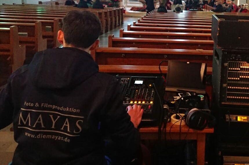 Livestream in einer Kirche-Audiorack