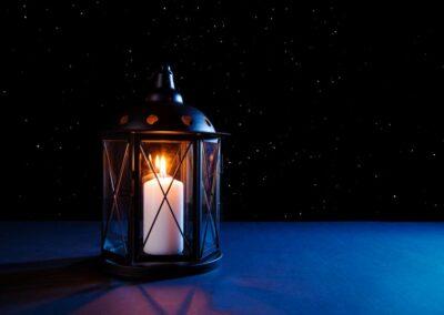 Professionelle Produktfotografie Laterne mit Sternenhimmel