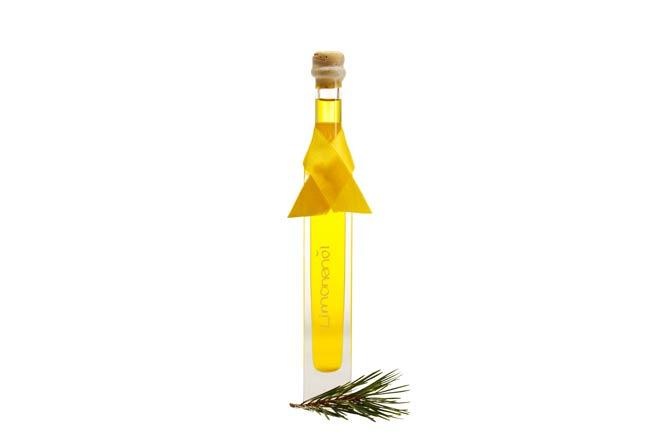 Andekorierte Produktfotografie Limonenöl